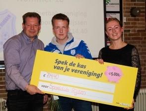 714,40 euro opgehaald met de Spek de Kas actie